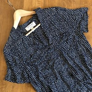 Cloth & Stone Anthro Dotted Button Top